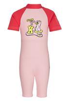 Sun Kids - Beach Girl Sun Suit Mid Pink