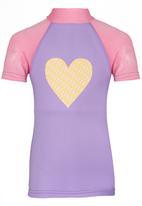 Sun Kids - I Heart Surfing  Rash Vest Mid Pink