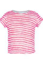 See-Saw - Cap Sleeve Tee Dark Pink