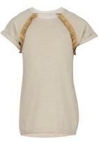 See-Saw - T-Shirt with Fringe Stone