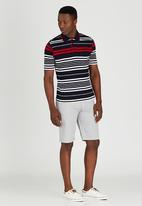 JCrew - Stripe Golf Shirt Navy