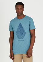 Volcom - Stone Wall T-Shirt Blue