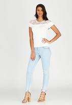 edit - Lace Inset T-shirt White