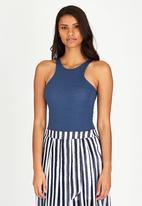 c(inch) - Ribbed Bodysuit Blue
