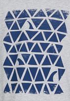 Rebel Republic - Raglan T-shirt with Print Grey Melange