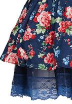 POP CANDY - Printed Floral Skirt Blue