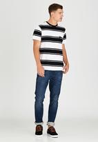 Element - Seattle Stripe Short Sleeve T-Shirt Black