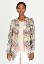 Slick - Kylie Printed Kimono Stone