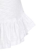 POP CANDY - Sleeveless Peplum Top White