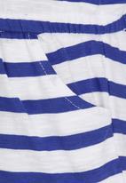 Soobe - Girls Stripe Jumpsuit Blue