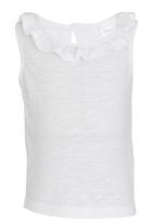 See-Saw - Frill Neck Top White