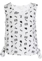 See-Saw - Side Tie Top White