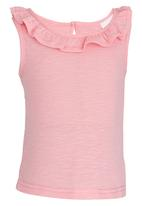 See-Saw - Frill Neck Top Cerise Pink
