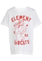 Element - Bobscat  SS Tee White