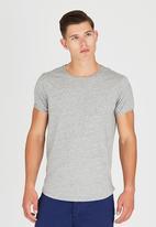 S.P.C.C. - Logo T-Shirt with Emb Chevron at Chest Grey