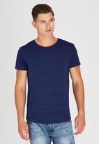 S.P.C.C. - Hand Drawn Stripe T-Shirt Blue