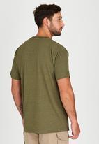 JEEP - Short Sleeve Printed Applique T-Shirt Green