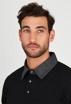 JEEP - Short Sleeve Yarn Dyed Golfer Black