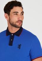 Pringle of Scotland - Stone Ford Styled Golf Shirt Blue