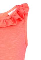 See-Saw - Frill Neck Top Orange