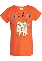 Soobe - Printed T-shirt Orange