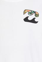 Billabong  - Sticker Wave  SS Tee White