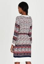 G Couture - V-neck Printed Tunic Red