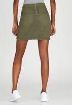 c(inch) - Lace Mini Skirt Dark Green