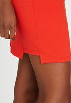 c(inch) - Step Mini Skirt Orange