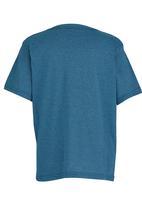 Fox - Printed T-Shirt Mid Blue