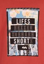 Billabong  - Life Short  SS  Tee Orange