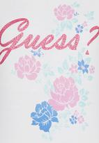 GUESS - Floral Logo Tee White