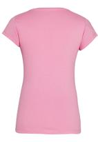 GUESS - Rolled Sleeve Logo Tee Pale Purple