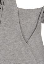 GUESS - Sleeveless Hoody Top Grey