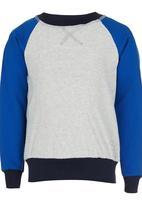 See-Saw - Colourblock Sweater Mid Grey
