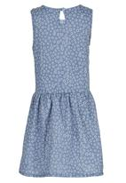 See-Saw - Front Tie Dress Pale Blue
