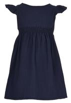 See-Saw - Dress with Smocked Bodice Navy