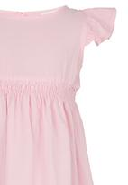 See-Saw - Dress with Smocked Bodice Pale Pink