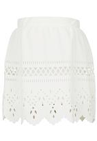 See-Saw - Printed Skirt White