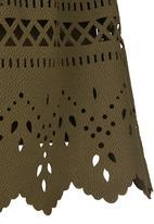 See-Saw - Printed Skirt Khaki Green