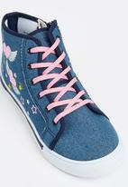 Bubblegummers - Bubblegummers Girls High Top Lace Up Heart With Wi Blue