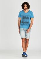 Dissident - Motlybike T-Shirt Blue