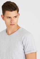 Silent Theory - MENS BASIC V NECK TEE Grey