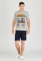 Sth Shore - Longbeach T-Shirt Pale Grey