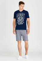 Tokyo Laundry - Brander T-Shirt Navy