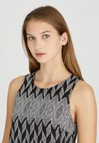 Revenge - Geometric Print Sleeveless Tunic Black and White