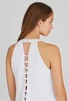 c(inch) - Lace-Up Back Tunic White