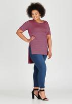 edit Plus - Hi Lo Hem T-Shirt Multi-colour