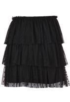 Rebel Republic - Layered Lace Skirt Black