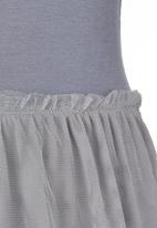 Rebel Republic - Mesh Overlay Dress Grey